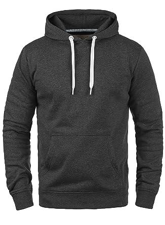 SOLID Olli Herren Kapuzenpullover Hoodie Sweatshirt aus hochwertiger  Baumwollmischung Meliert: Amazon.co.uk: Clothing