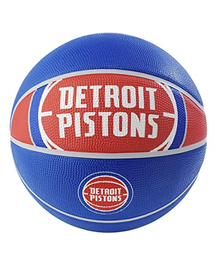 b866f8c0 Amazon.com : Spalding NBA Detroit Pistons NBA Courtside Team Outdoor Rubber  Basketballteam Logo, Royal Blue, 29.5