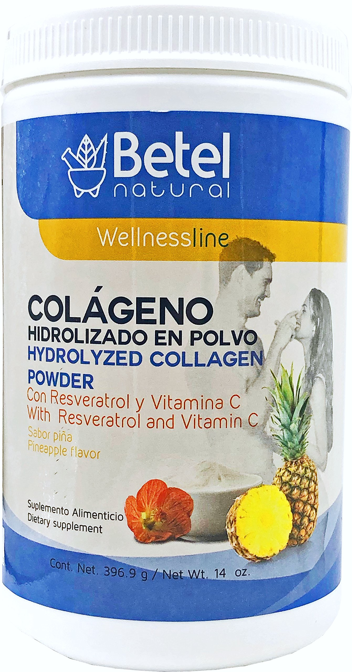 Amazon.com: Colágeno (Hydrolyzed Collagen) - Betel Natural - Pineapple flavor: Health & Personal Care