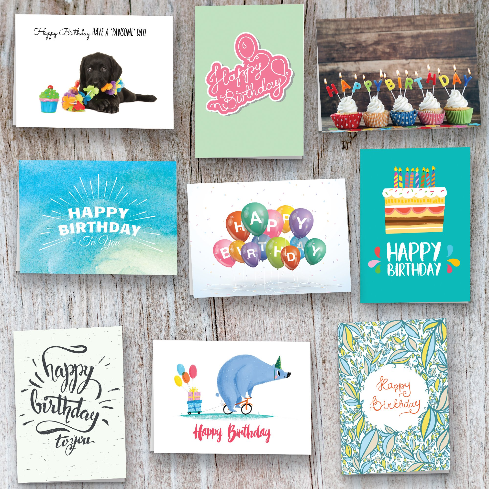 40 Birthday Cards Assortment with Envelopes (Birthday)