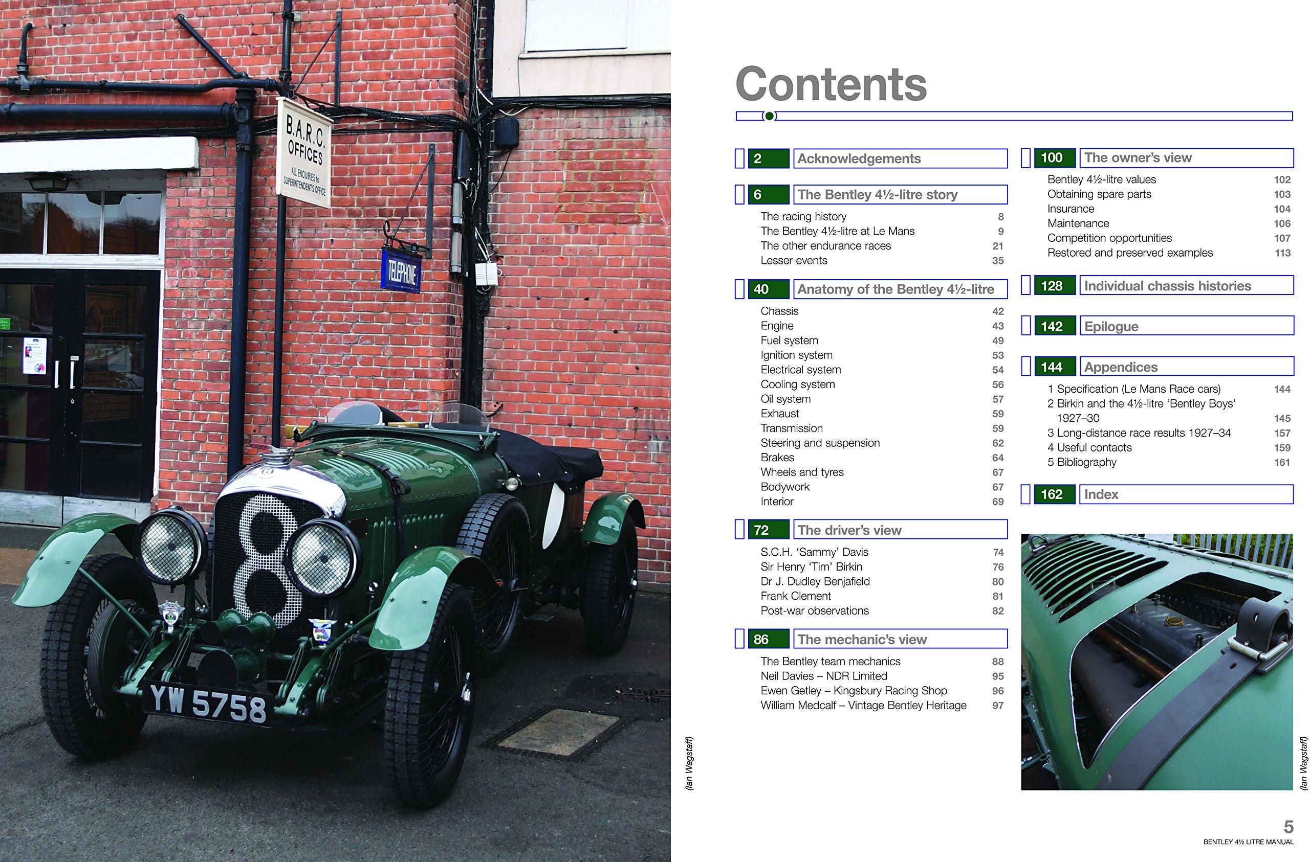 Bentley 4 1 2 Litre Owners Workshop Manual 1927 onwards all