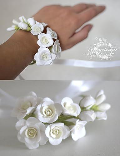 Amazon roses bracelet roses corsage bride bracelet bridal roses bracelet roses corsage bride bracelet bridal corsage flower bracelet flower mightylinksfo