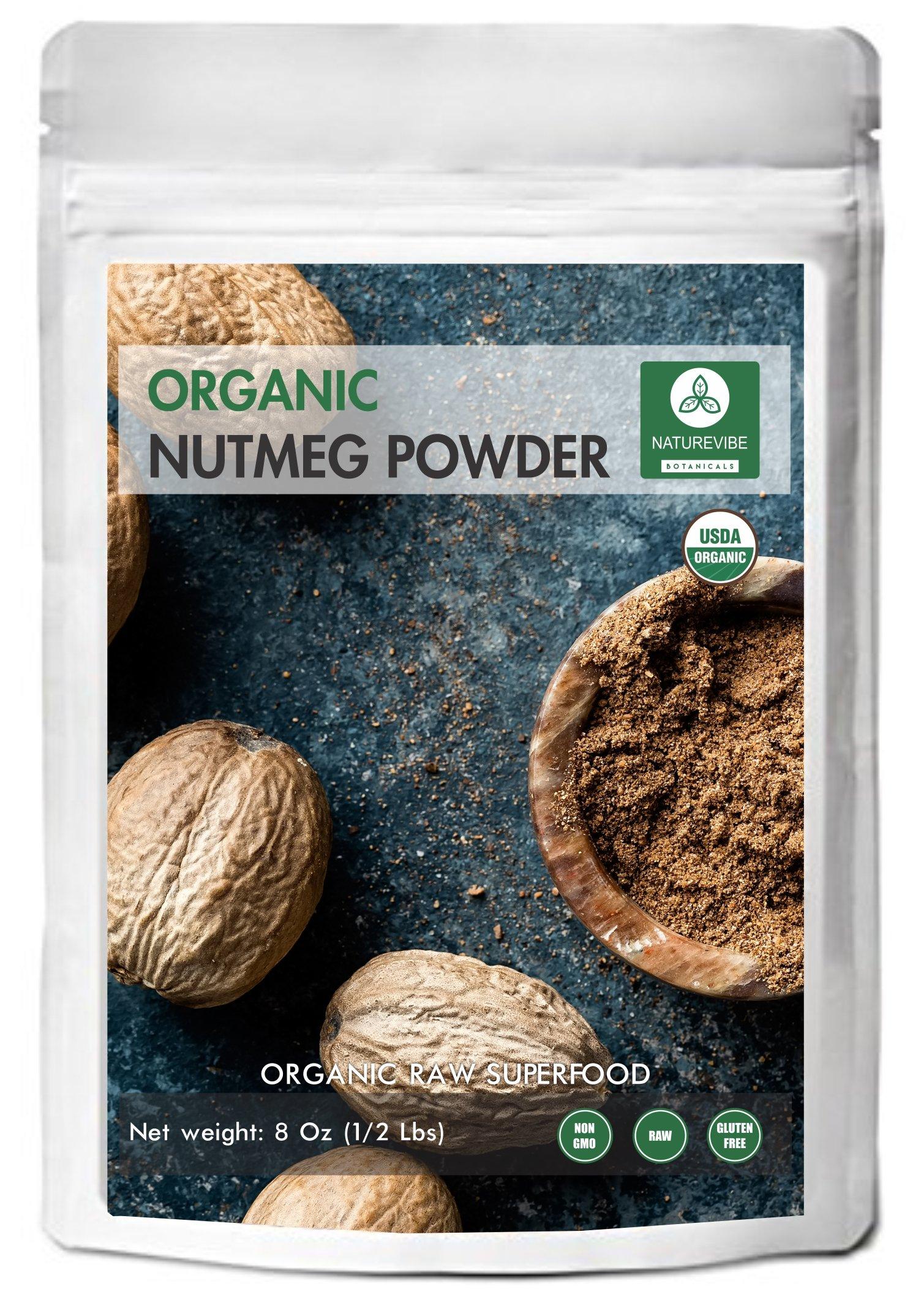 Nutmeg Powder (8 Oz) - Organic Myristica Fragrans