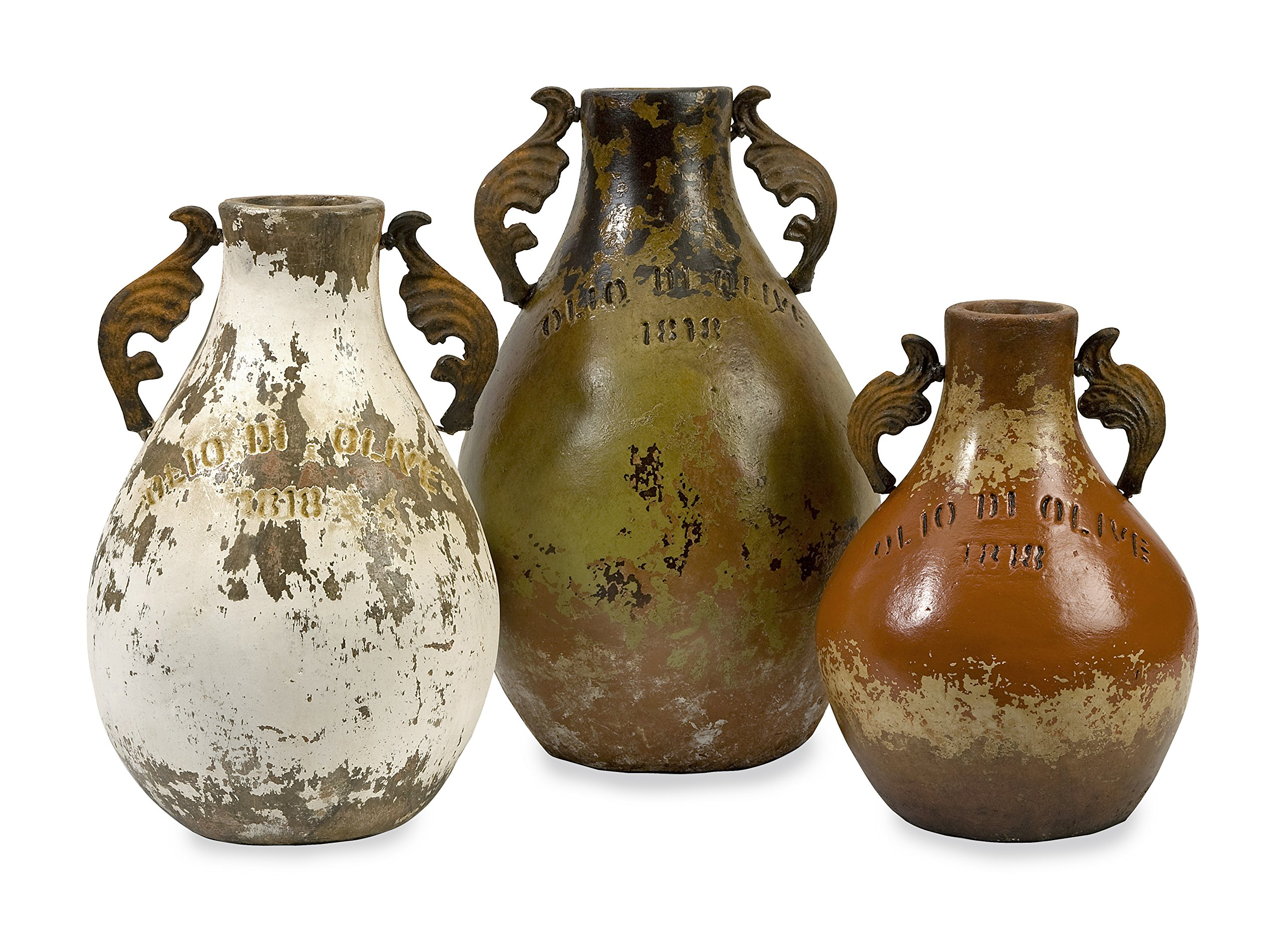 IMAX 20131-3 Martine Terracotta Jugs - Set of Three