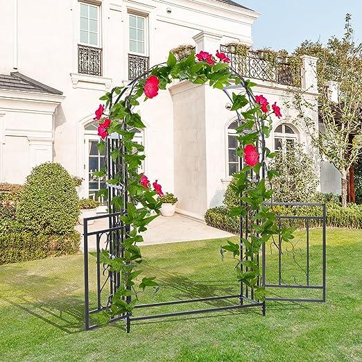 Nueva mtn-g 4 ft x 7 ft arco metálico para Jardín Patio novia arco ...