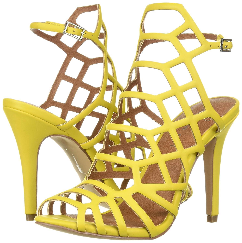 c7e856791c6 Madden Girl Womens Directt Peep Toe Formal Strappy Sandals, Citron ...