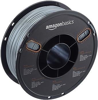 AmazonBasics – Filamento de PETG para impresora 3D, 1,75 mm, Gris, bobina de 1 kg