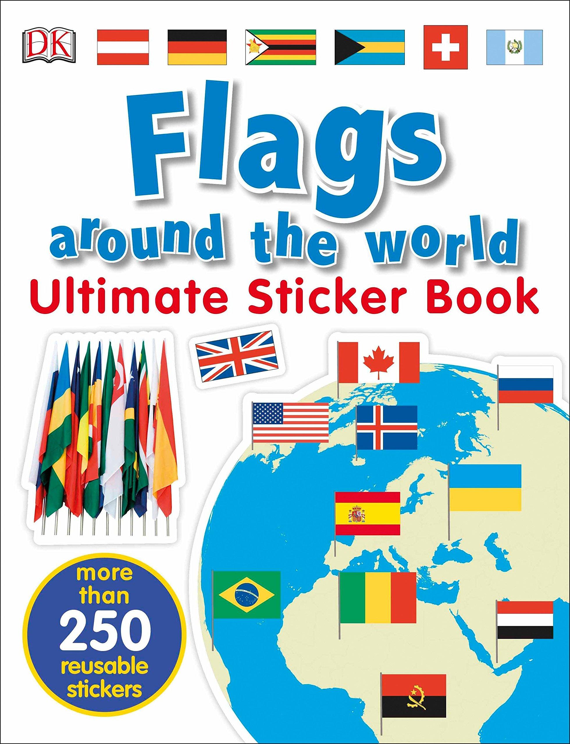 Flags Worlds Sticker Book