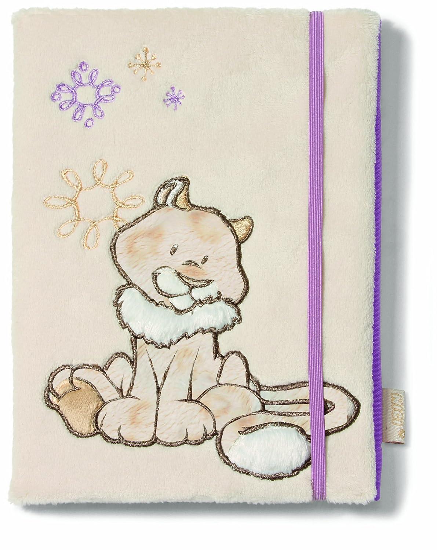 Nici 36098 - Blankbuch A5 Schneeleopard mit abnehmbarem Plüscheinband