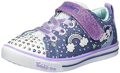 88bd24f8aa0 Skechers Kids Girls  Sparkle LITE-Unicorn Craze Sneaker Denim Lavender 5  Medium US
