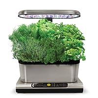 AeroGarden Miracle-Gro Harvest Elite with Gourmet Herb Seed Pod Kit, Stainless Steel