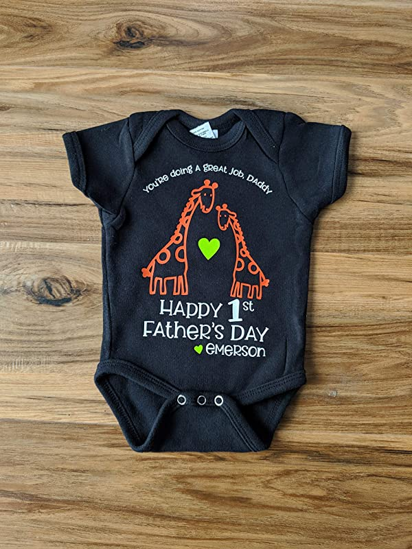 You/'re doing a great job daddy best dad onesie Personalized Father/'s Day Onesie Happy Father/'s Day Personalized Giraffe onesie