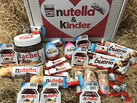 Nutella & Kinder Chocolate Gift Box - with Personalised Jar