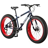 Mongoose Dolomite Mens Fat Tire Mountain Bike, 26-Inch Wheels, 4-Inch Wide Knobby Tires, 7-Speed, Twist Shifters, Steel…