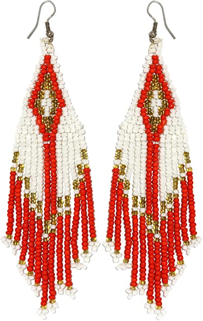 Amazon AnsonsImages Dangle Native American Indian Seed Bead Magnificent Seed Bead Patterns