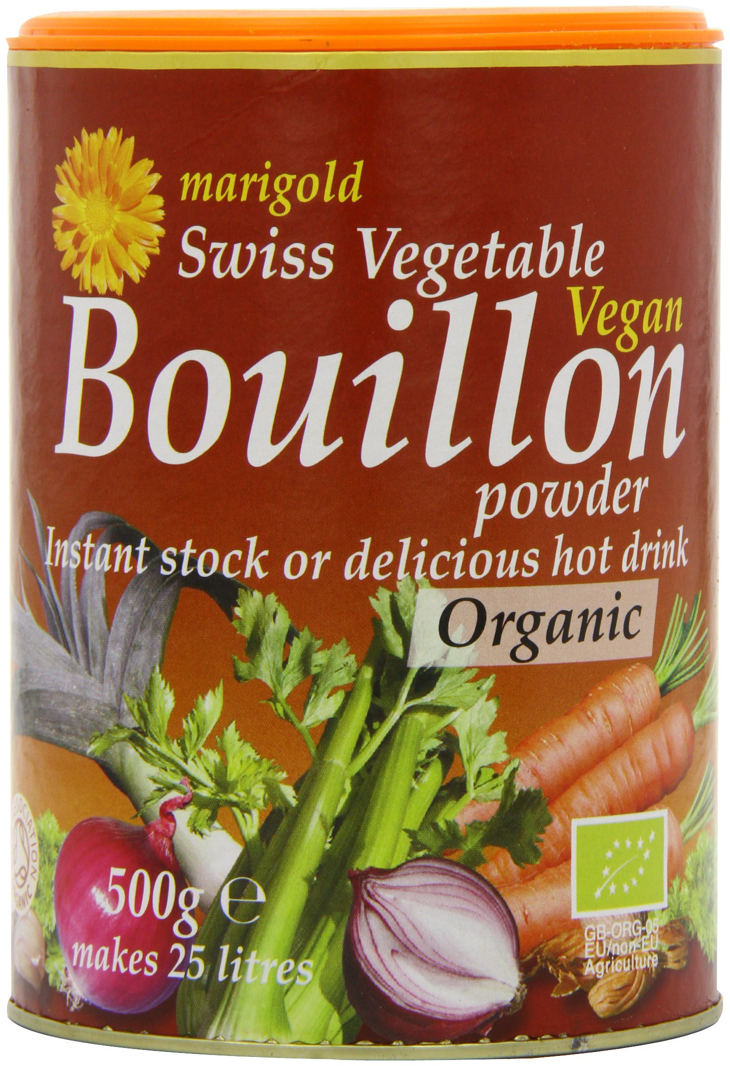 Marigold Organic Bouillon Powder 500 g (Pack of 2)