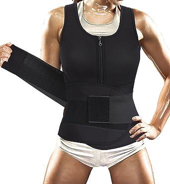 e12e0c4fd Women Sauna Suit Waist Trainer Vest for Sport Workout Weight Loss Corset  with Belt Neoprene Shirt