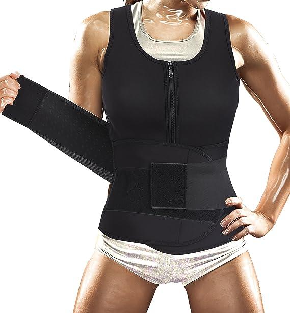 Amazon.com: Traje de sauna para mujer, chaleco deportivo ...