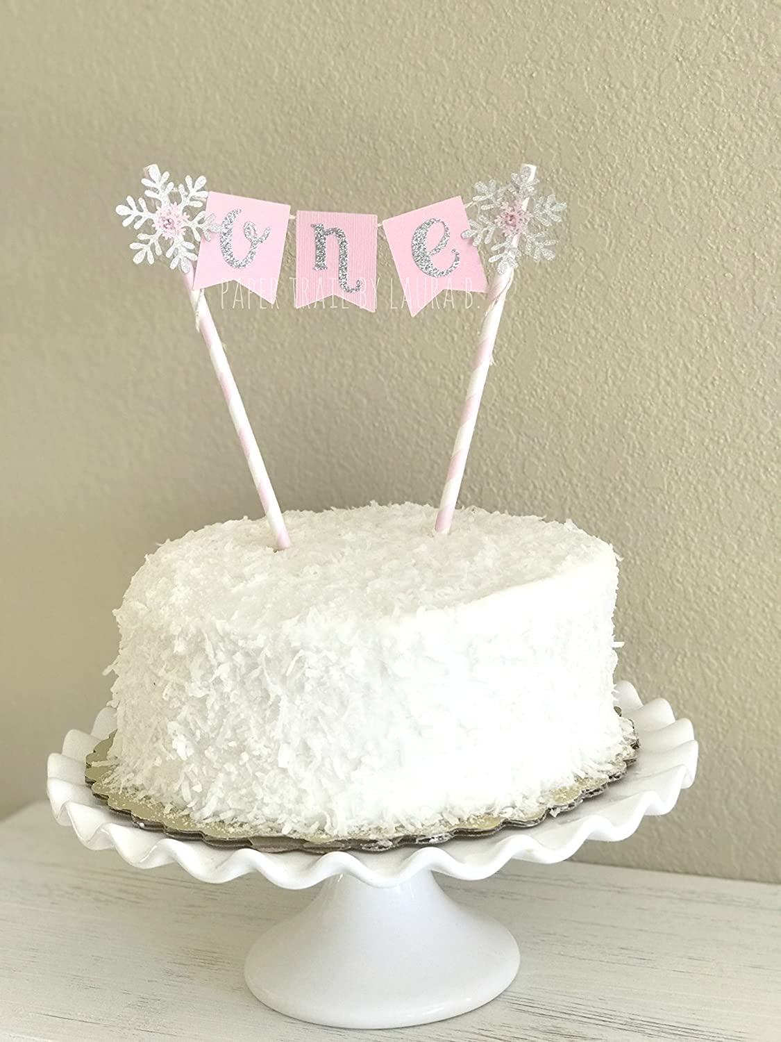 Fabulous Amazon Com Snowflake Cake Topper Pink And Silver Winter Funny Birthday Cards Online Alyptdamsfinfo