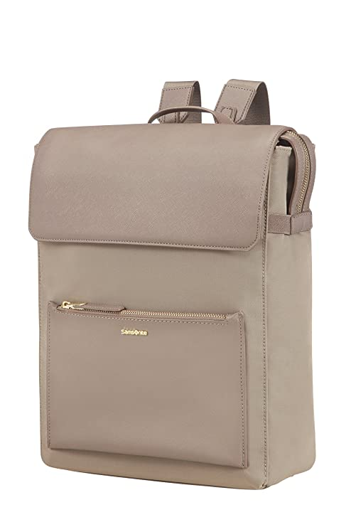 "Samsonite Zalia Rectangular Mochila Tipo Casual, 14.1"", 12 Litros, Color Beige"