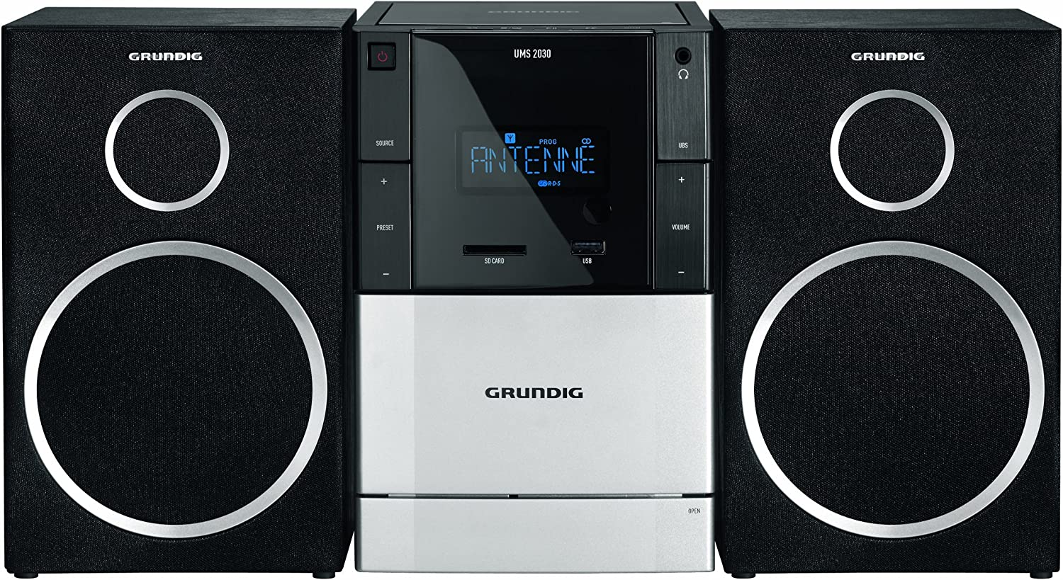 Grundig Ums 2030 Micro Stereo System Cd Player Rds Aux In Usb Home Cinema Tv Video