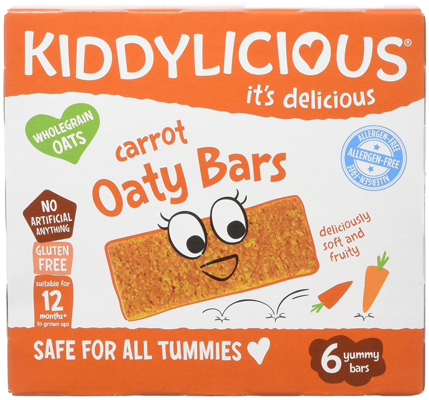 Kiddylicious Carrot Oaty Bars, 20 g, Pack of 6 The Kids Food Co. 1080130