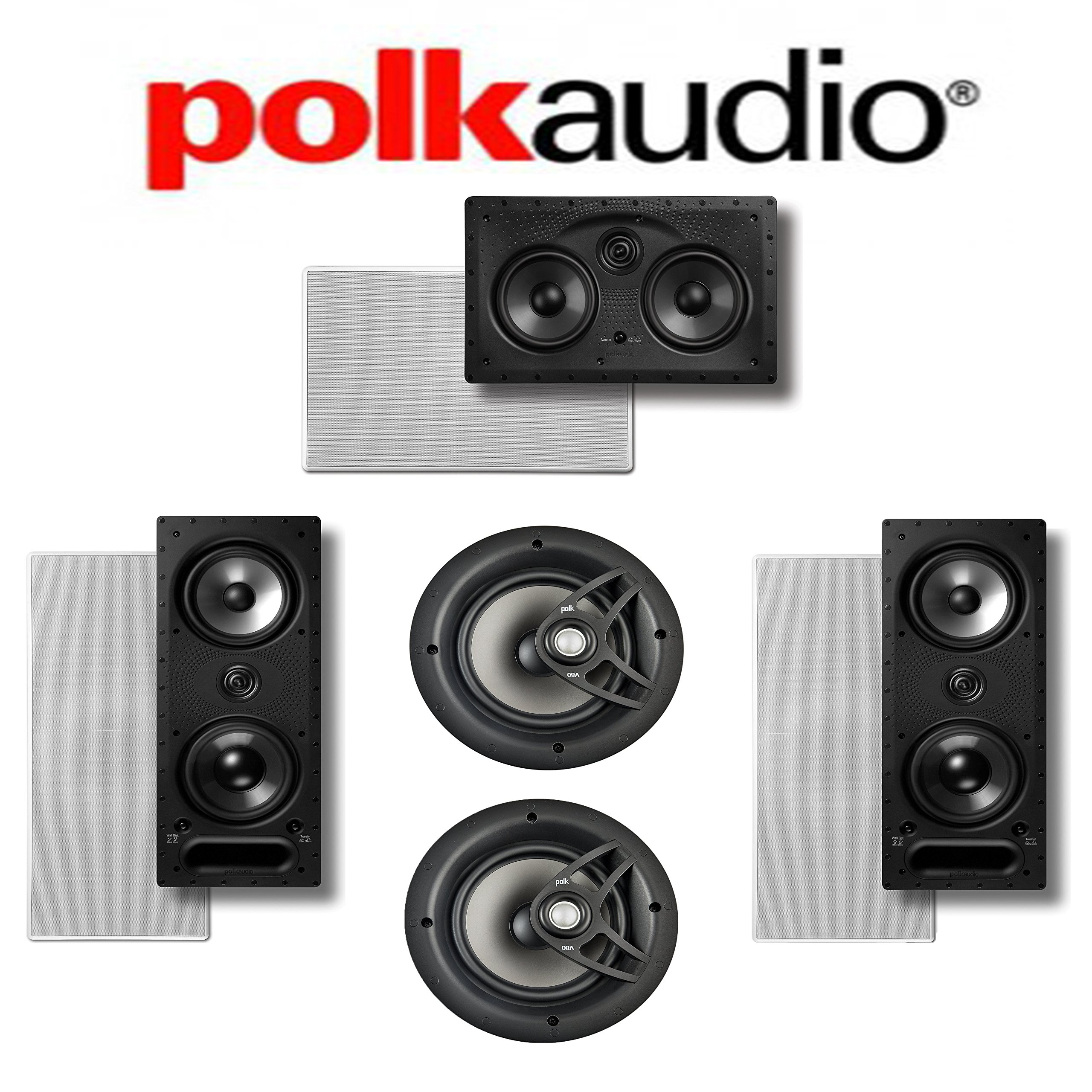 Polk Audio 265-LS + Polk Audio V80 + Polk Audio 255C-LS 5.0 Vanishing Series In-Wall / In-Ceiling Home Theater System by Polk Audio