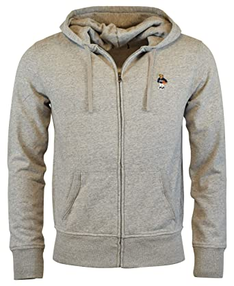 5a42acfb28ef Amazon.com  Polo Ralph Lauren Men s Zip Up Fleece Bear Logo Hoodie ...