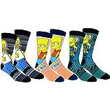 The Simpsons Casual Crew Socks 2 & 3 Pair Packs Multi Color
