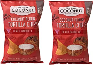 product image for The Real Coconut Grain/Gluten Free Coconut Flour Tortilla Chips 2 Pack (Beach BBQ)