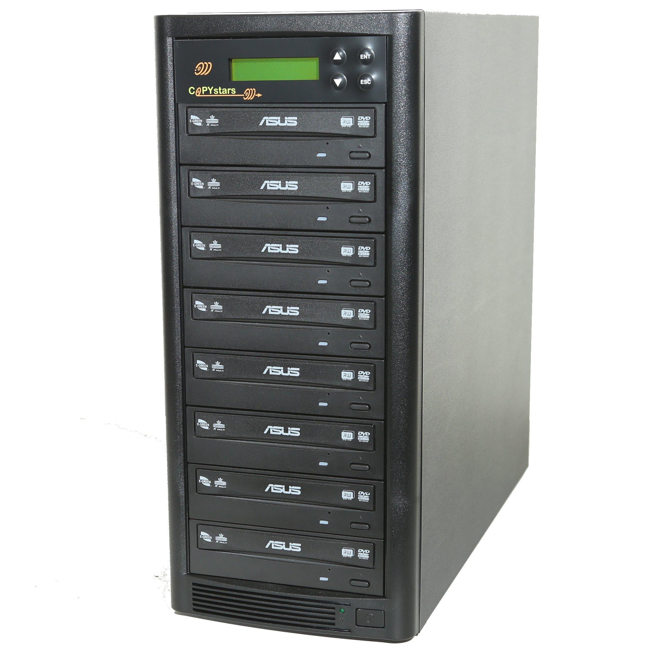 DVD Duplicator Sata 1 to 7 24X Dvd-burner Drive CD DVD Duplicator Writer Copier Tower by Copystars