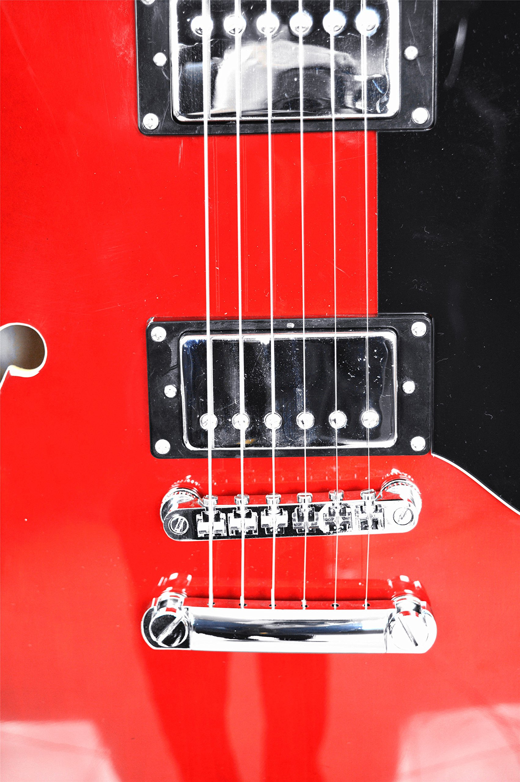 2019 New Product GROTE BRAND Electric Guitar Semi Hollow Body RED COLOR by Grote (Image #5)