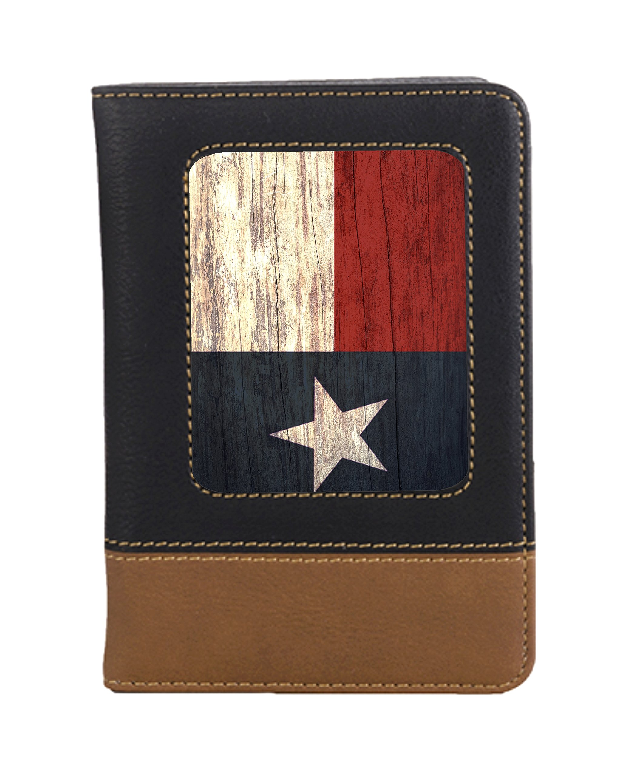 Texas Flag Leatherette Passport Travel Wallet Case Cover with Card Slots