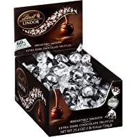Lindt Lindor 60 Truffles Kosher 60Count Box 50.8 Oz, Extra Dark Chocolate, 609.6 Ounce, (Pack of 12)