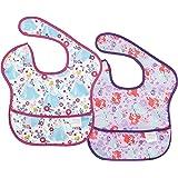 Bumkins Disney Cinderella Ariel SuperBib, Baby Bib, Waterproof, Washable, Stain and Odor Resistant, 6-24 Months (Pack of 2)