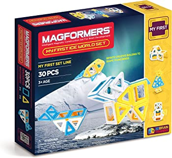 Magformers My First Ice World Magnetic Building Blocks Set (30-Piece)