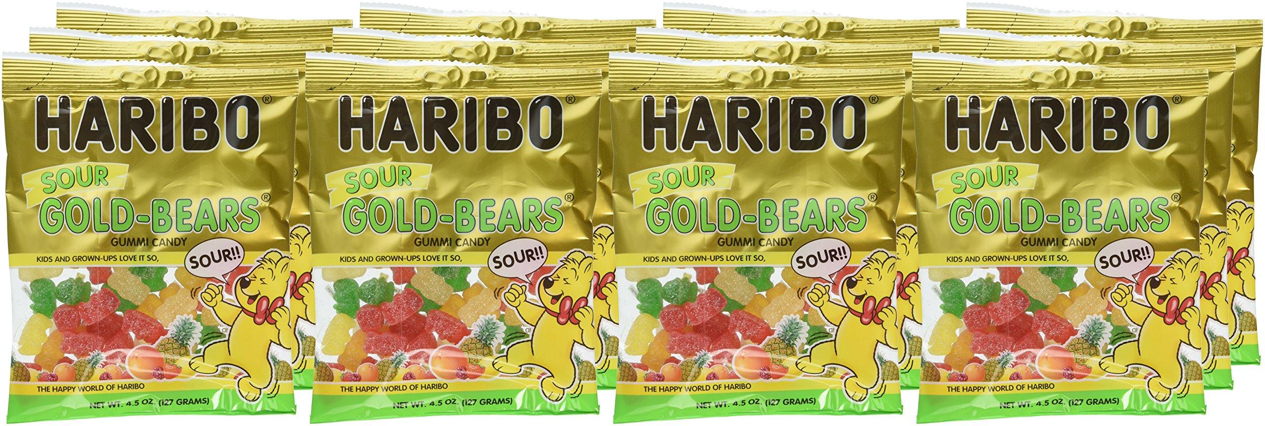 Haribo Gummi Candy, Goldbears Gummi Candy, Sour, 4.5 oz. Bag (Pack of 12) by Haribo (Image #3)