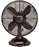 """Hunter Fan 90406 12"""" Oscillating Desk Fan - oil rubbed bronze Color"""