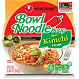 NongShim Bowl Noodle Soup, Kimchi, 3.03 Ounce (Pack of 4)