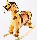 Baybee Unicorn Horse Large Wooden Rocker for Kids (Dark Chocolate)
