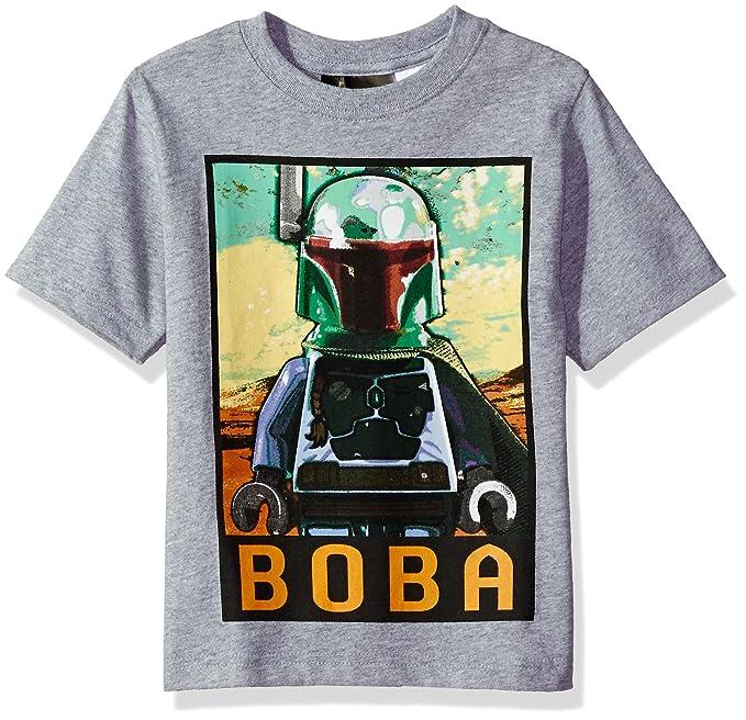 8895e76b4 Amazon.com: Star Wars Boys' Big Boba Fett T-Shirt, Gray, 8: Clothing