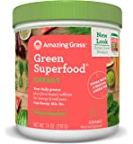 Amazing Grass Green Superfood, Energy Watermelon, Powder, 30 Servings, 7.4oz, Matcha Green Tea, Yerba Mate, Wheat Grass, Spirulina, Alfalfa, Acai, Greens, Vegan, Vitamin K, Probiotic
