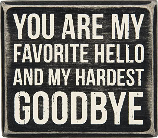 Amazon Com Favorite Hello And Hardest Goodbye From Primitives By Kathy Home Kitchen