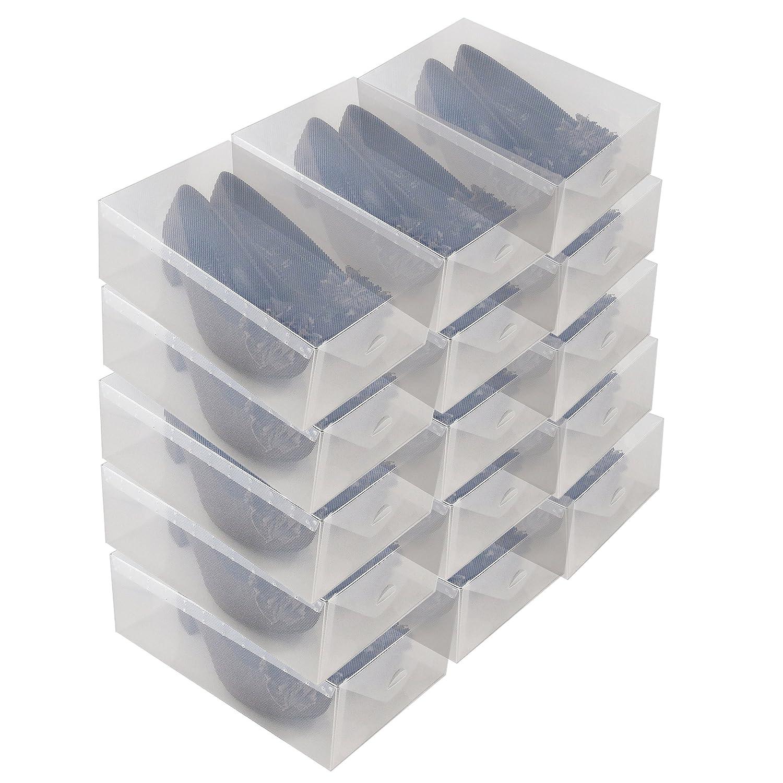Conjunto de tres sencillas cajas transparentes para calzado. Opción de cantidades.