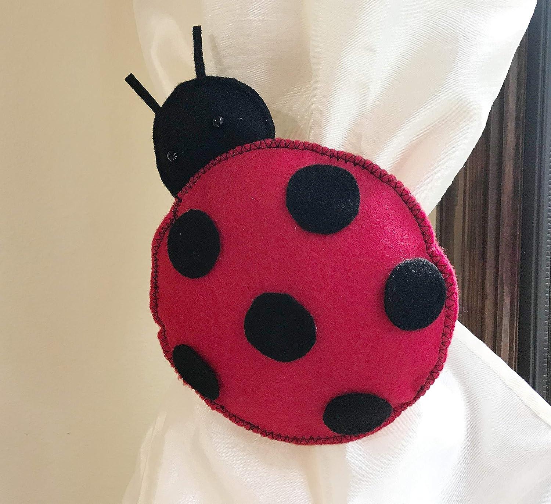 home decoration Kid Gift Present Space Theme room decor pick colors Handmade Ladybug ar curtain tieback