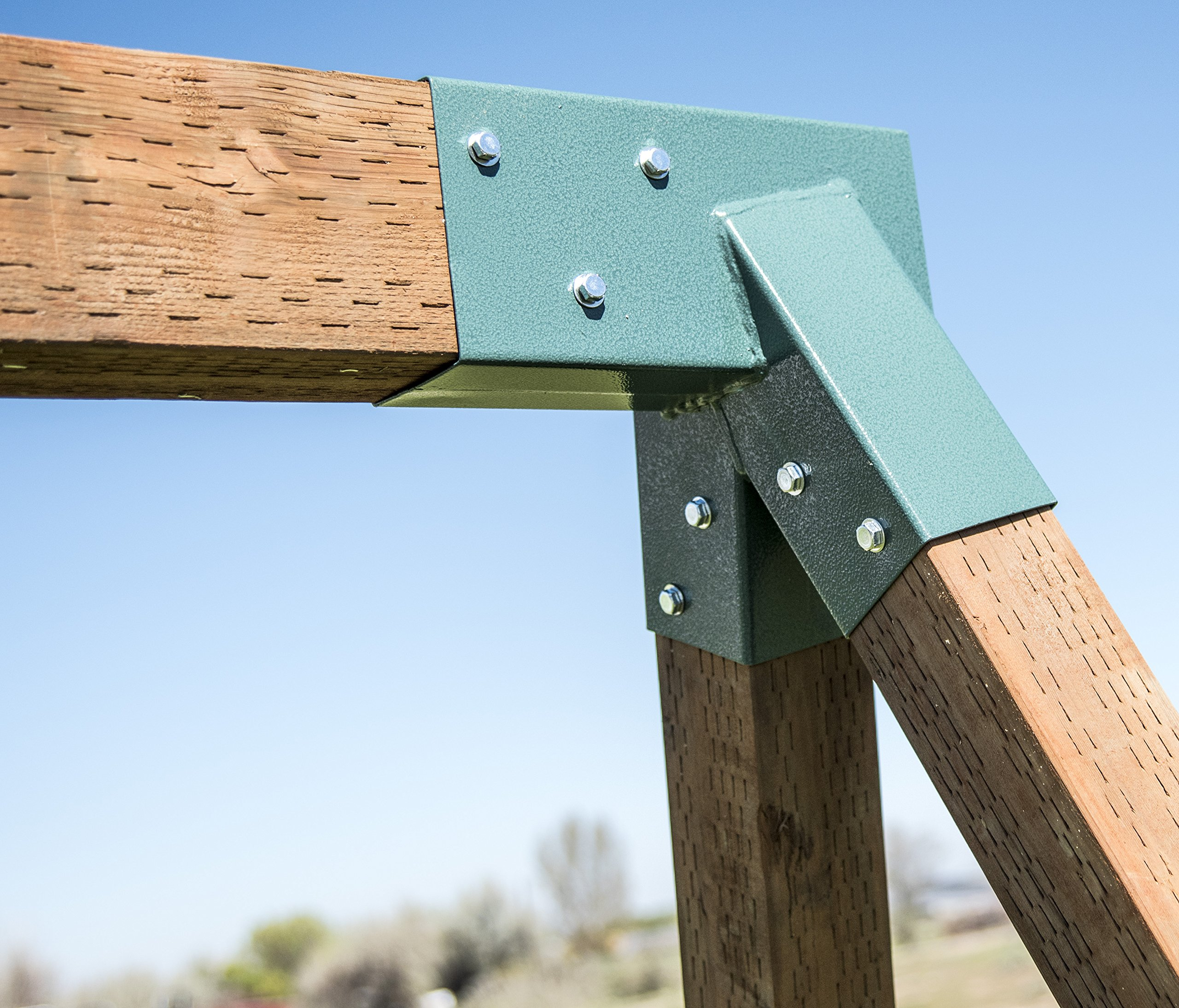 Squirrel Products A Frame Swing Set Bracket For 2 4x4 Legs 1
