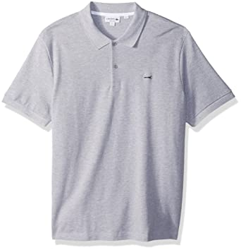 55a36887 Lacoste Men's Short Sleeve 3 Ply Regular Fitular Pique Polo, Silver Chine  4X-Large at Amazon Men's Clothing store: