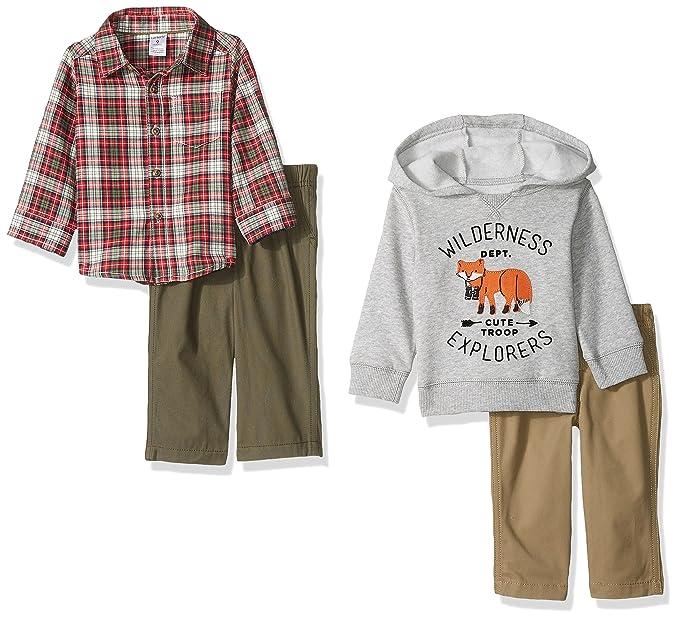 Amazon.com: Conjunto de pantalón y camisa con botones ...