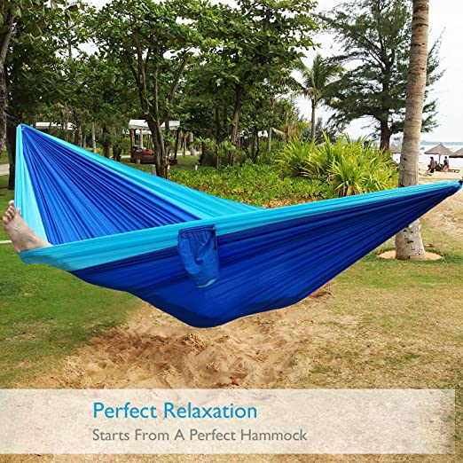 Camping Hammock Portable Lightweight Double Nylon Best Parachute 2xHangingStraps