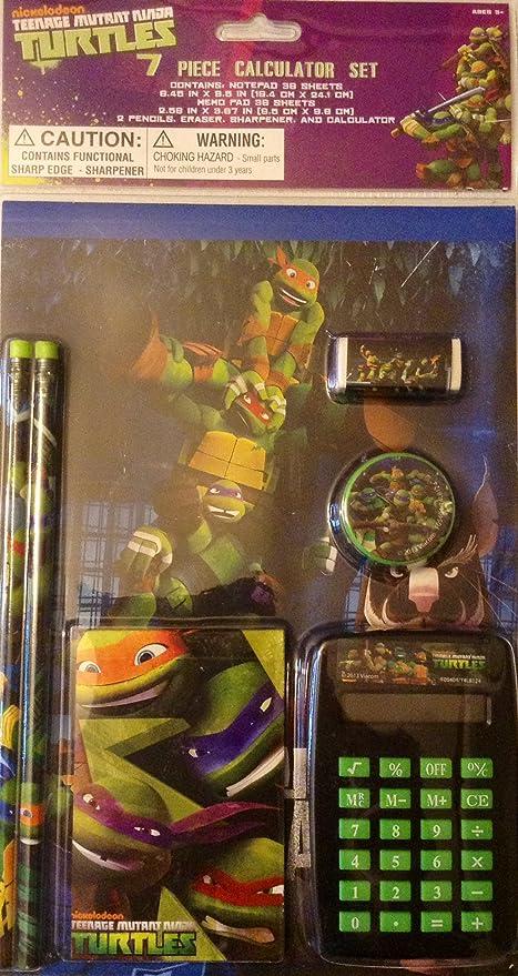 Teenage Mutant Ninja Turtles 7 Piece Calculator Stationary Set